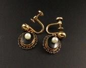 Onyx Pearl Earrings, Pearl Onyx Earrings, Black Earrings, Pearl Earrings, Victorian Revival Earrings, Gold Filled Earrings