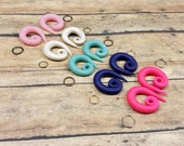 5 pairs of  Customizable Swirl Gauged Earring Converters BUY 4 GET 1 FREE choose your colors!