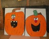 TWO Games  pumpkins     bean  hole  game   with 6  bean bags