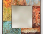 31 x 31 Copper And Metal Mirror