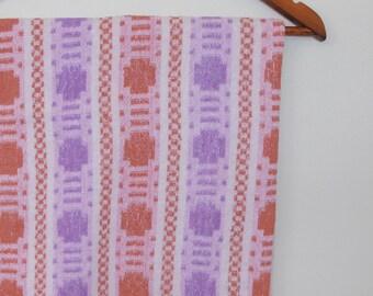 crosses and checks...vintage cotton bath towel