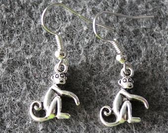 Monkey Earrings,Chimpanzee Earrings