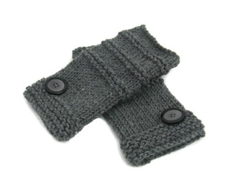 Fingerless Gloves, Knit Gloves, Fashion Accessory, Texting Gloves, Hand Warmers, Oxford Gray Gloves, Gray Gloves, Gift Ideas For Her,