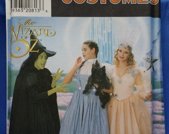 Sewing Pattern Simplicity 7808 Wizard of Oz Movie Costumes Dorothy Glen Witch of the West Multi-Sized 12-14-16 Uncut Unused Ships Free