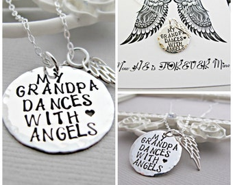 Sympathy Gift, Memorial Gift, Memorial Jewelry, Memorial Necklace, Loss of Grandpa, Death of Grandpa, Sympathy Jewelry, Sympathy Necklace