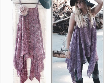 prince Music festival lace tunic top, Young famous Bohemian Mexicali beach ,Boho clothes, Stevie Nicks style Gypsy chic, True rebel clothing