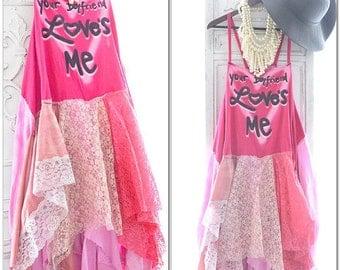 80s Pink boho dress, Graphic tshirt Bohemian sexy pink sundress dress, Boho dresses, Coachella sundress, Retro Festival, True rebel clothing