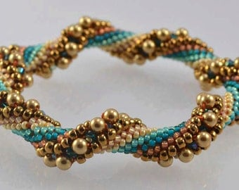 Arizona Bead Crochet Bracelet Pattern - Instructions for bracelet and Hints doc included