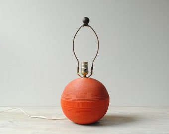 Vintage Orange Ball Lamp