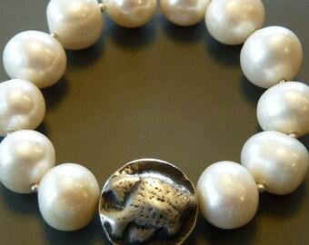 Freshwater pearl stretchy bracelet