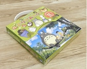 My Neighbor Totoro's Chiyogami / Origami Paper Set of 24 sheets (12 Designs x 2 each), 15 x 15cm, make your own Totoro!