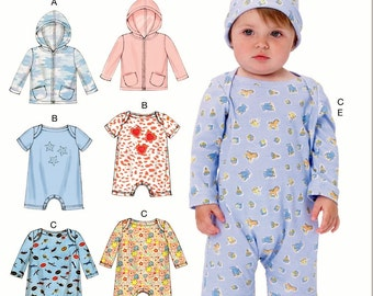 Infant Bodysuit with Pants and Jacket Pattern, Toddler Hoody Jacket Pattern, Sz 8 to 29 lb, McCall's Sewing Pattern 7423