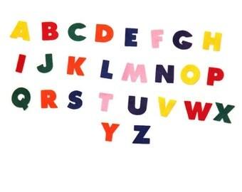 """Felt Alphabet Letters 1 1/4"""" - Die Cut Felt Letters - Die Cut Felt Alphabet"""