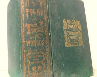 Antique Book 1875/Polar and Tropical Worlds/Polar & Equatorial Regions/Profusely Illustrated with Engraved Illustrations