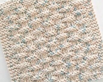 Cotton Dishcloth, Knit Washcloth, Basketweave Dishcloth, Natural Cotton Dishcloth, Oatmeal Beige, Neutral Kitchen Decor