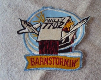 Vintage 1970s Barnstormin Willy 77 02 Airplane Stunt  Patch