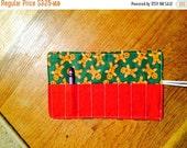 Spring sale sale sale Crayon roll Cozy holder ginger bread
