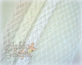 Birdcage Veiling, Birdcage Netting, Choose Your Color-