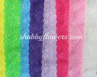 Pack of 11 elastic lace headbands for baby, Baby Lace Headbands, lace elastic baby headbands
