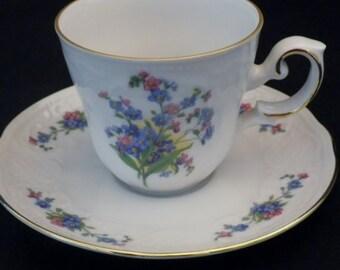 Vintage Bavarian Demitasse Cup & Saucer Set