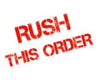 Rush order service for invitations