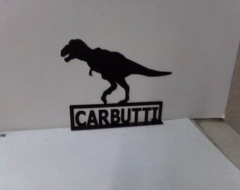 T-Rex Metal Dinosaur Large Mailbox Topper Art Silhouette