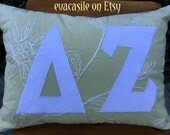 Delta Zeta Sorority Appliqued Pillow (2016-2)