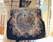 Reconstructed purse assemblage vintage evening bag