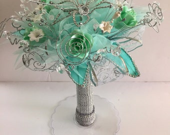 L Quinceanera or Wedding Bouquet with free shipping