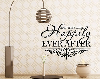 Happily Ever After....Bedroom Wall Quotes Love Wall Sticker Decals Sayings