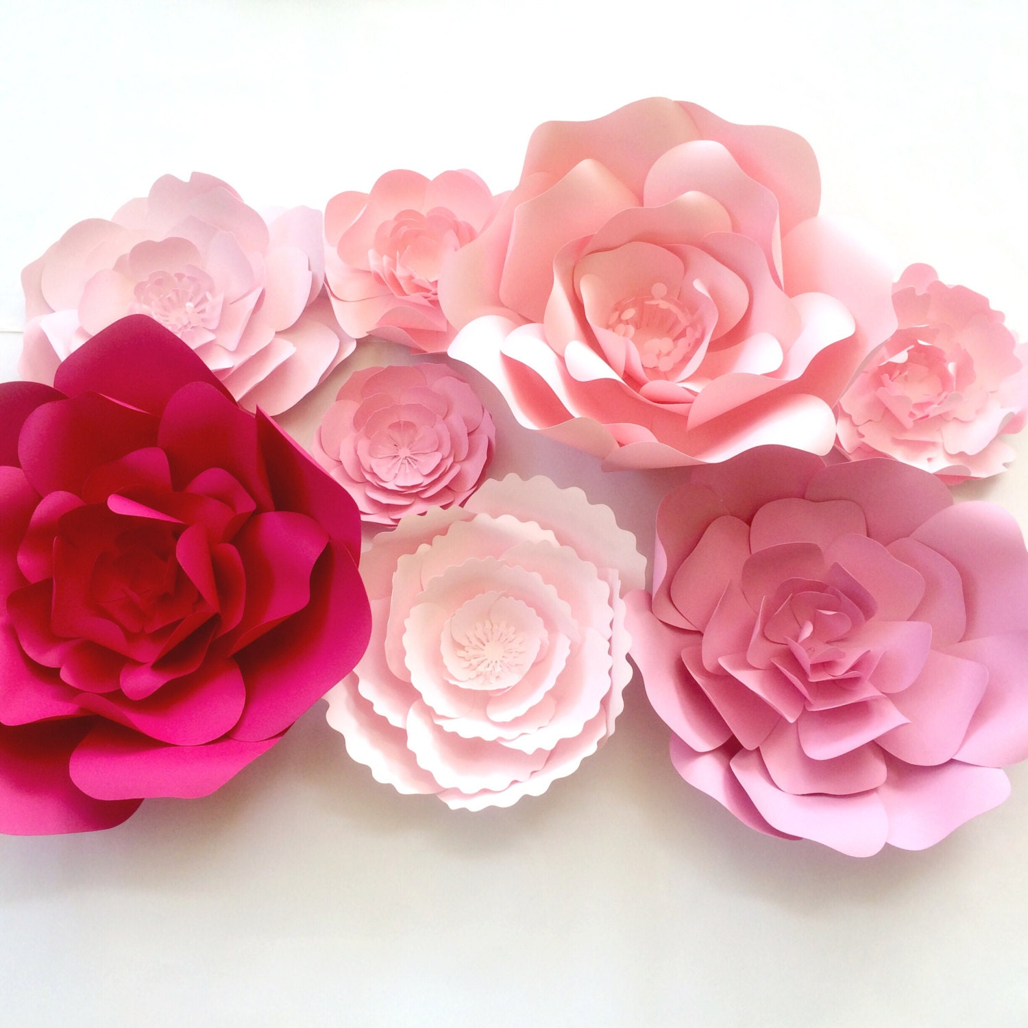 Large Flower Wall Decor : Paper flower wall decor large backdrop giant