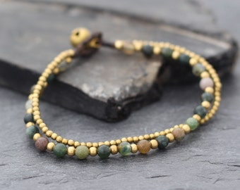 Fancy Jasper Round Basic Bracelet