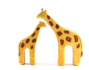 wooden toy giraffe, waldorf toys, giraffe figurine, wooden toddler toys, waldorf animal, nursery decor, new baby gift