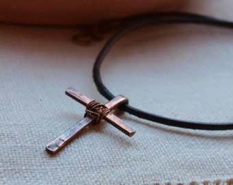 Small Forged Copper Cross