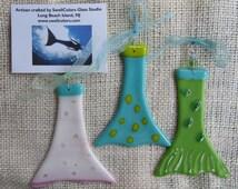 Fused Glass Mermaid Tails