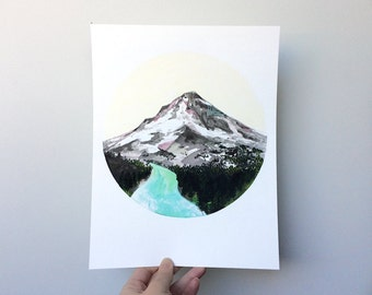 SECONDS SALE Mountain, 8.5 x 11