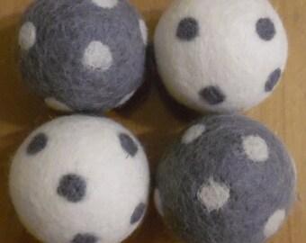 Polka Dot Wool Dryer Balls