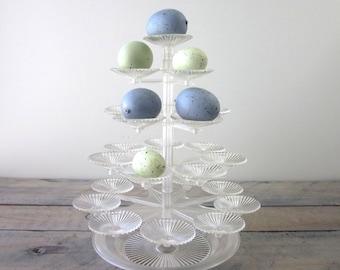 Vintage Plastic Candy Display Dessert Tree Bon Bon Server