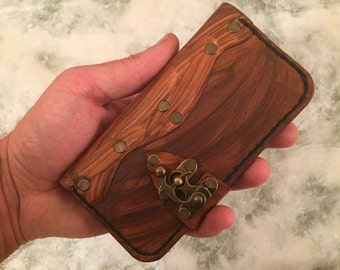 Personalized leather iPhone 6 case,iPhone 6S wallet,distressed leather iPhone 6 cover,brown leather case for iPhone 6,wood effect case