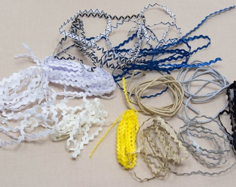 Assortment of 20 Pieces of Little Rick Rack and Trim All 1 Yard Long