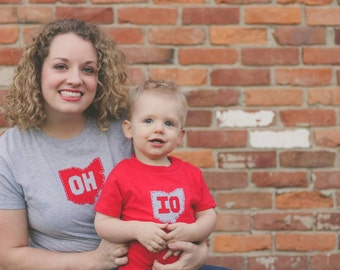 Mommy and Me OH-IO t-shirt set, great gift for Mother's day or any new mom, Mom-to-be