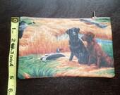 """Dogs - 7"""" Zipper - Lined - Soft Sides - Labrador Retrievers"""