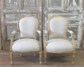 Antique french arm chairs
