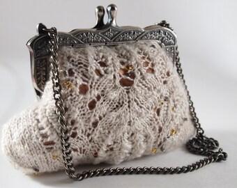 Moira Clutch Knitting Pattern Purse Lace