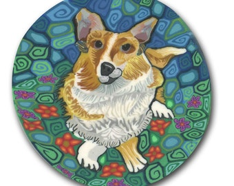 Corgi-  Silly Milly Polymer clay cane large