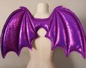 Costume Purple Bat Wings, costume wings, Halloween costume, vampire costume, purple wings, succubus, cosplay bat wings, demon wings,