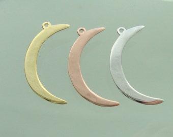 Crescent Moon Pendant, 1 pc, Half Moon Pendant, Beautiful Quality Handmade, High Polished - PC-0124