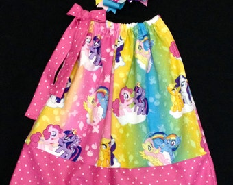 Custom Boutique handmade MY LITTLE PONY Pillowcase Dress