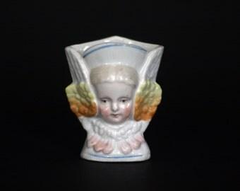 vintage angel face vase