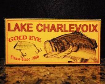 Lake Charlevoix lake house fishing decor nostalgic fishing lure boxes 4YourLake